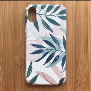 NEW Iphone X Floral Leaves Case